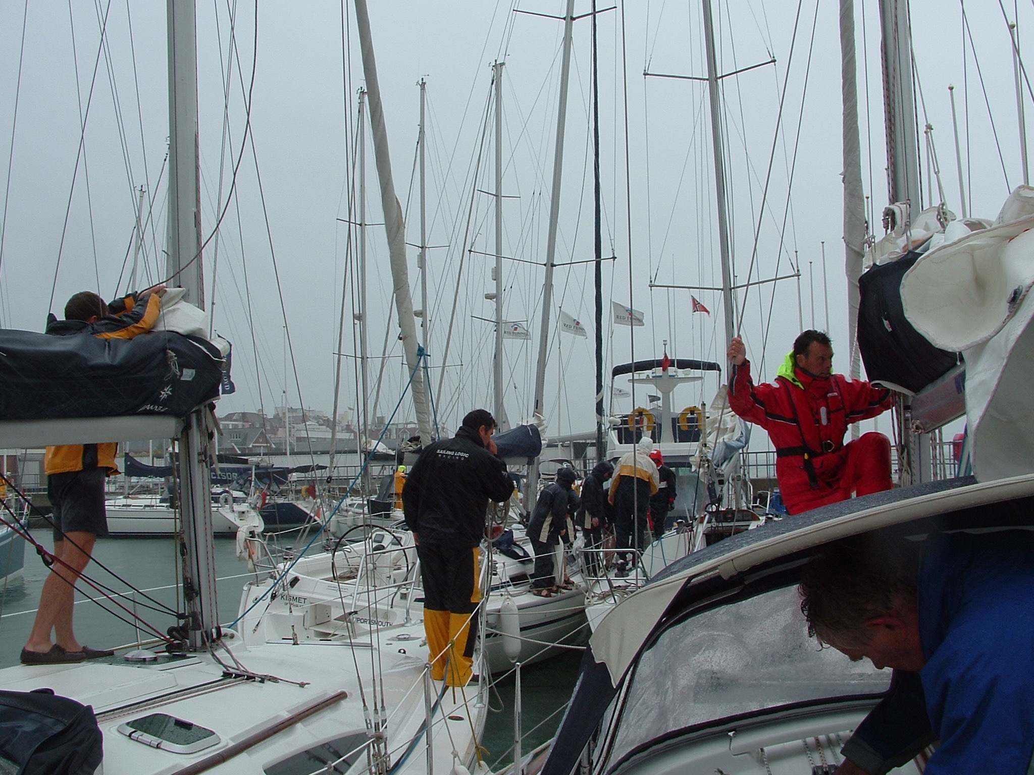 Cowes in the Rain 1