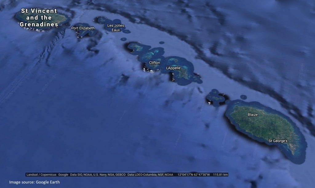 Grenadines Courtesy of Google Earth